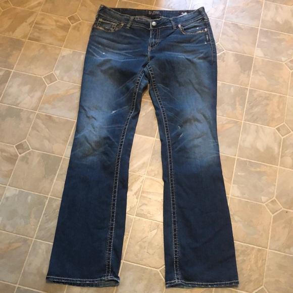 Silver Suki Jeans tall inseam.